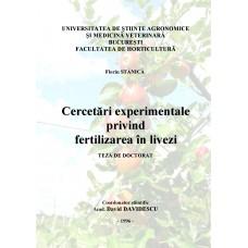 Cercetari experimentale privind fertilizarea in livezi